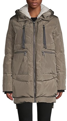 Sam Edelman Faux Fur-Trim, Down Feather Fill Coat
