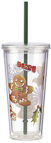 Lenox Holiday Gingerbread Tumbler with Straw