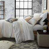 UGG Lunar Stripe Cotton Flannel Full/Queen Duvet Cover in Grey