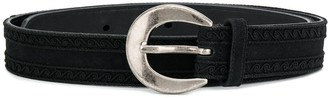 Saint Laurent Buckle Detail Narrow Belt