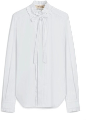 Mulberry Abbey Shirt Off White Mini Check Poplin