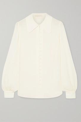 MICHAEL Michael Kors Silk-crepe Shirt - Ivory