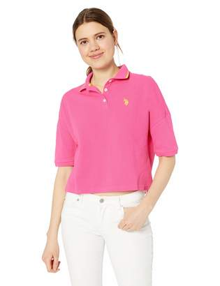 U.S. Polo Assn. Women's Cropped Polo Fashion Shirt
