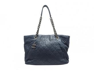 Chanel Navy Leather Handbags