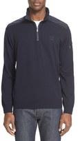 Paul & Shark Nylon Trim Quarter Zip Wool Sweater