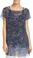 Kenneth Cole Sheer Layered Tunic