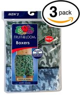 Fruit of the Loom Men's 3Pack Printed Boxer Shorts Boxers Underwear 2XL