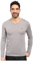 Lacoste Long Sleeve Pima Jersey V-Neck T-Shirt