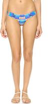 Mara Hoffman Flight Azure Ruched Side Bikini Bottoms