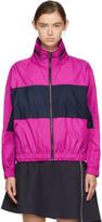 Kenzo Pink & Navy Logo Windbreaker Jacket