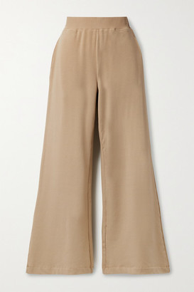 L'Agence Campbell Stretch Cotton And Modal-blend Wide-leg Pants - Camel