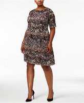 Connected Plus Size Printed Dress