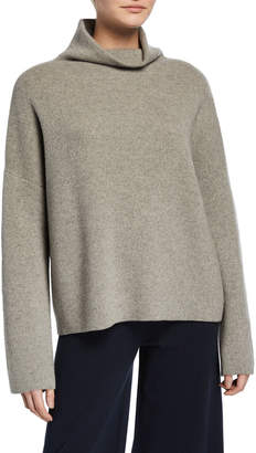 Vince Funnel-Neck Wool-Cashmere Sweater
