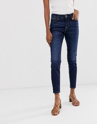 Stradivarius join life low waist skinny jeans in dark wash