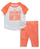 Under Armour Baby Boy's Wake Up Awesome Tee and Pants Set