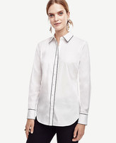 Ann Taylor Petite Tipped Perfect Shirt