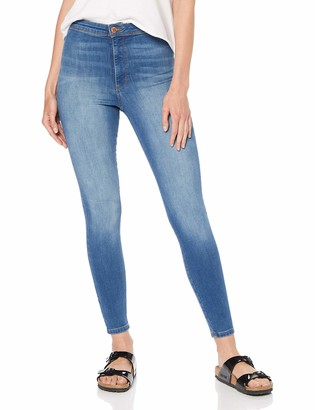 Miss Selfridge Women's Soft Steffi Blue Regular Skinny Jeans