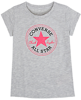 Converse Girls' Graphic Logo T-Shirt, Grey