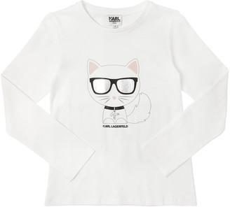 Karl Lagerfeld Paris Choupette L/s Cotton Jersey T-shirt