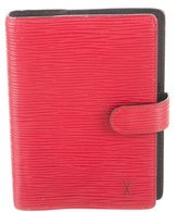 Louis Vuitton Red Epi Leather Agenda
