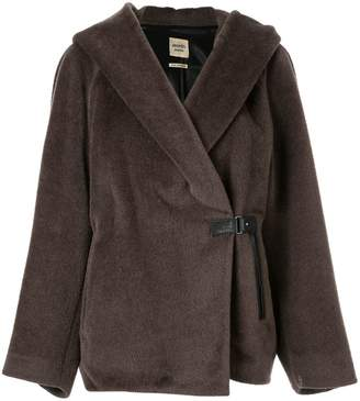 Hermes Pre-Owned oversized wrap-front jacket