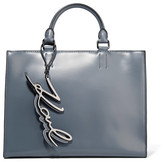 Karl Lagerfeld K/metal Leather Tote - Gray green