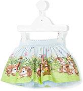 MonnaLisa bunny print tutu - kids - Cotton/Polyamide - 3 mth