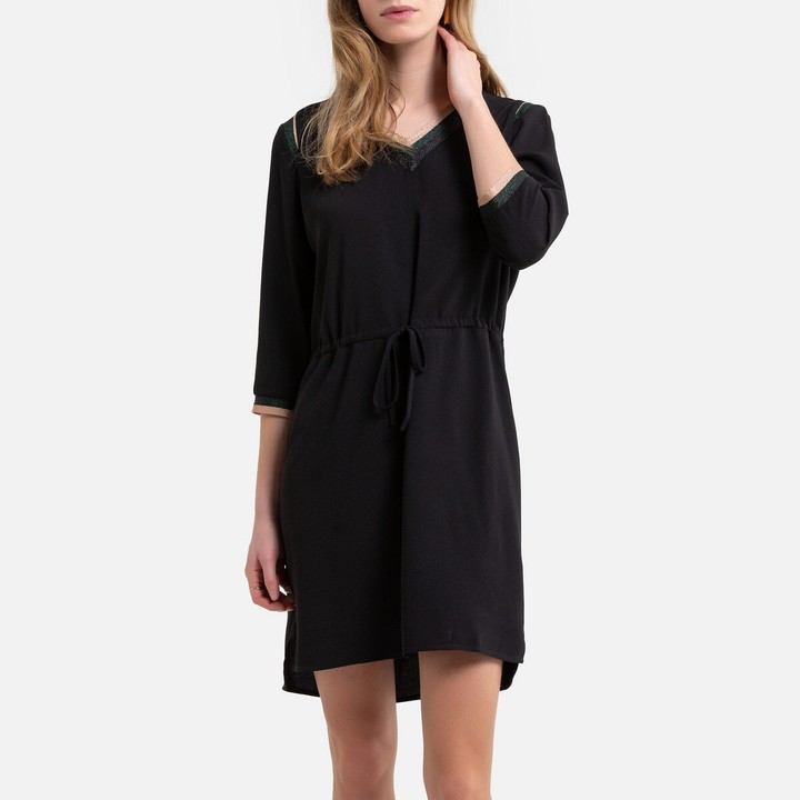 Only Flared Mini Dress with 3/4 Length Tie Sleeves