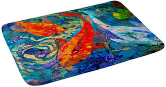 "Deny Designs Elizabeth St Hilaire Nelson Koi Memory Foam Bath Mat, 24""x36"""