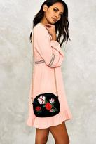 Nasty Gal nastygal WANT Louise Embroidered Velvet Bag