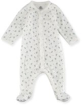 Petit Bateau Little Chicks Printed Footie Pajamas, Size Newborn-9M