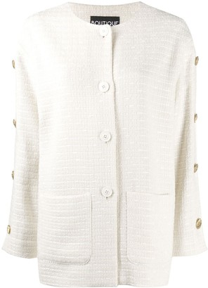 Boutique Moschino Button-Detail Relaxed Cardigan
