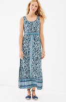 J. Jill Border-Print Knit Maxi Dress