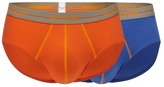 Sloggi Pack Of Two Orange And Purple Midi Briefs