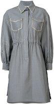 Fendi striped shirt dress - women - Cotton/Silk - 38