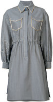 Fendi striped shirt dress - women - Silk/Cotton - 38