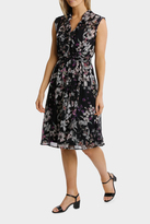 Jump Magic Floral Ruffle Trim Dress