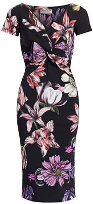 Chiara Boni Illye Floral Print Sheath Dress