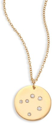 Bare Constellations Libra Diamond & 18K Yellow Gold Pendant Necklace