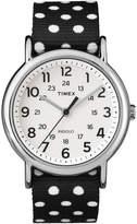 Timex Weekender Womens Black Dot Strap Reversible Watch
