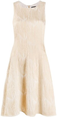 Emporio Armani Textured Mini Dress