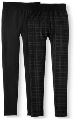 Time and Tru Women's Embossed Legging - 2 Pack