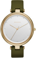 Skagen Women's Tanja Green Leather Strap Watch 38mm SKW2483