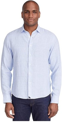 UNTUCKit Torontel Wrinkle Resistant (Blue) Men's Long Sleeve Button Up
