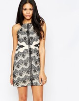 Daisy Street Shift Dress With Lace Details