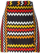 MSGM zig zag print skirt - women - Cotton/Viscose - 38