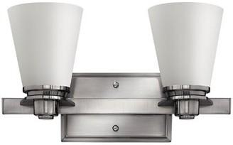 Avon Hinkley Lighting 2-Light Armed Sconce Hinkley Lighting Finish: Brushed Nickel