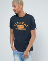 Element Logo Skateboard T-shirt In Navy