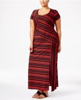 NY Collection Plus Size Striped Maxi Dress