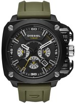 Diesel 'BAMF' Chronograph Silicone Strap Watch, 52mm